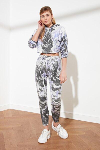 Çok Renkli Batik Desenli Jogger Örme Eşofman Altı TWOSS21EA0076