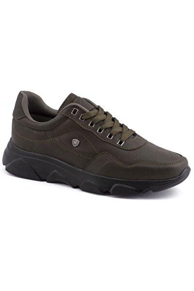 019 Haki Siyah Erkek Spor Ayakkabı