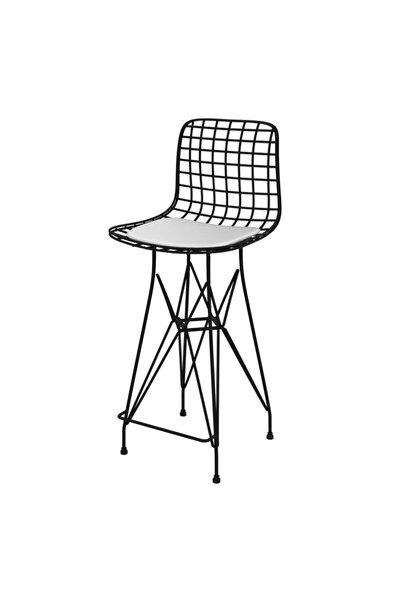 Knsz Tel Bar Sandalyesi 1 Li Mağrur Syhbyz 65 Cm Oturma Yüksekliği Bahçe Cafe Ofis