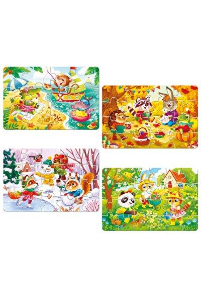 Circle Toys 4 Mevsim Puzzle (12-16-20-24 Parça)