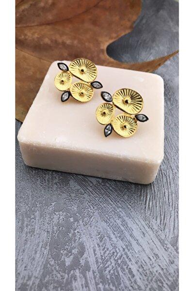 Kubik Zirkon Taşlı Çiçek Model 925 Ayar Gümüş Küpe