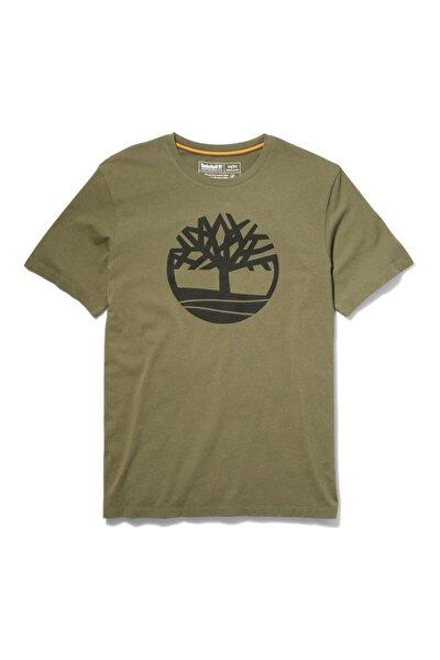 Erkek Yeşil River Tree Logo Tee Tişört