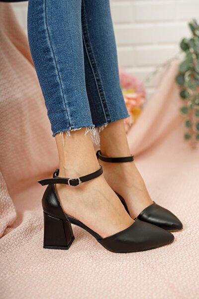 Kadın Siyah Klasik Topuklu Ayakkabı Md10421190001
