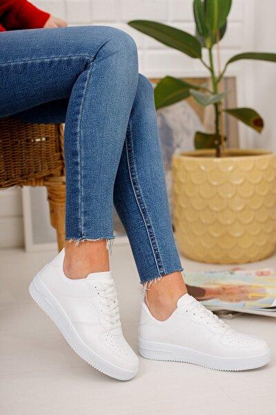 Kadın Beyaz Air Sneaker Ayakkabı