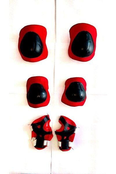 Koruyucu Dizlik Takımı Dizlik, Dirseklik, Eldiven Set Kırmızı