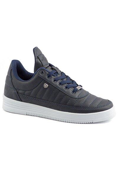 07 Lacivert Beyaz Dikişli Taban Unisex Spor Ayakkabı