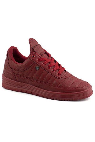 07 Kırmızı Kırmızı Dikişli Taban Unisex Spor Ayakkabı