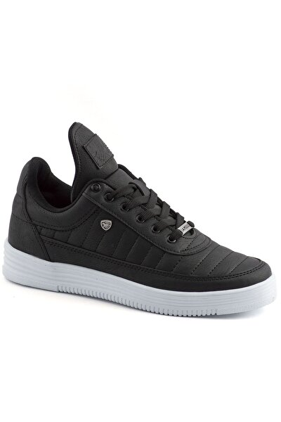 07 Siyah Beyaz Dikişli Taban Unisex Spor Ayakkabı