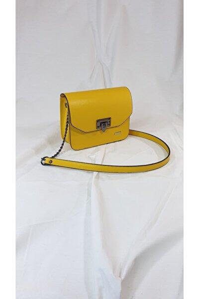 Kadın Volga Model Sarı Omuz Çantası