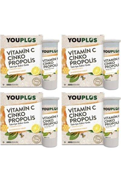 Vitamin C Çinko Propolis 20 Efervesan Tablet - 4 Adet