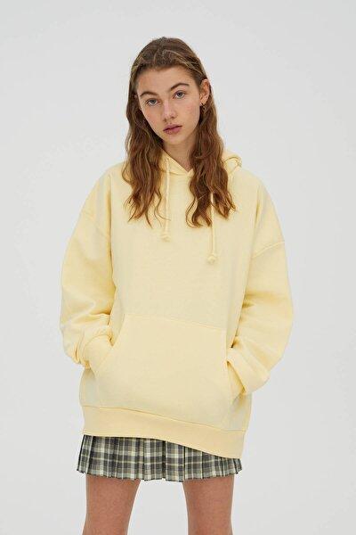 Basic Oversize Kapüşonlu Sweatshirt