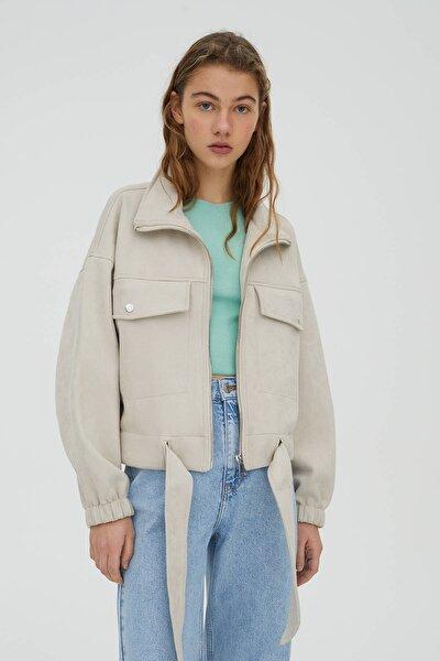 Kadın Kısa Kadife Ceket