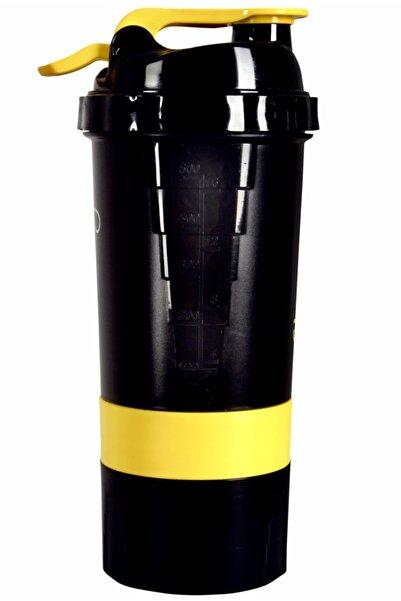 Özel Tasarım 3 Bölmeli Siyah Shaker 500 ml