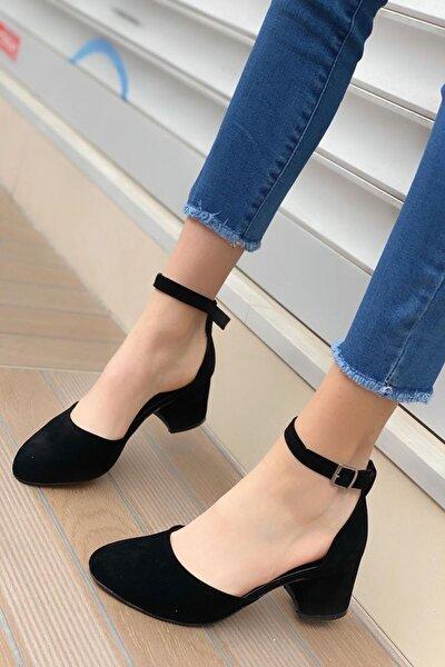 Kadın Lavinia Siyah Süet Topuklu Ayakkabı