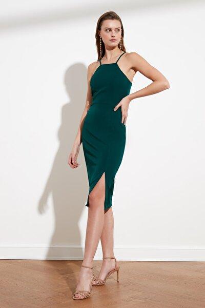 Zümrüt Yeşili Askılı Elbise TWOSS19BB0501