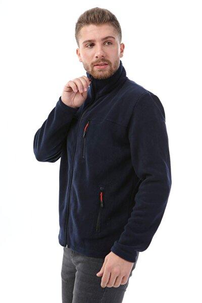 Unisex Bato Yaka Tam Fermuarlı Ceket Lacivert