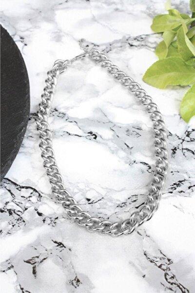 Kalın Zincir Kolye Gümüş