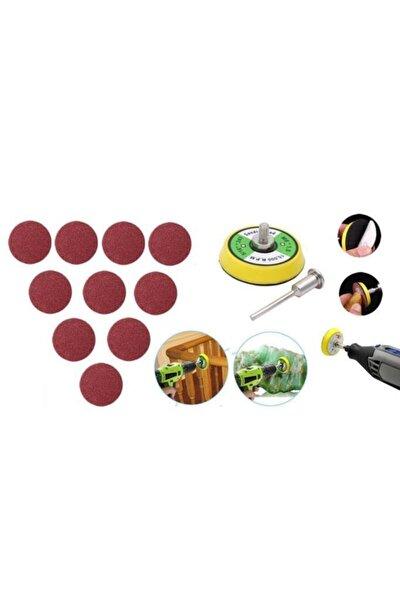 12 Parça Mini Cırt Zımpara Pimli Dremel Gravür Uyumlu 3.2 mm Zımpara Seti
