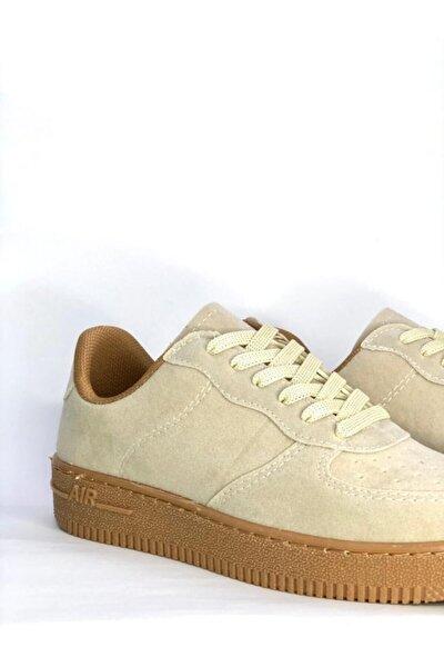 Kadın Bej Air Süet Sneaker Ayakkabı