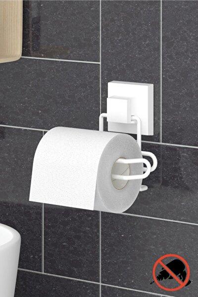 Delme Vida Matkap Yok! Easyfıx Yapışkanlı Tuvalet Kağıtlık Beyaz Ef271