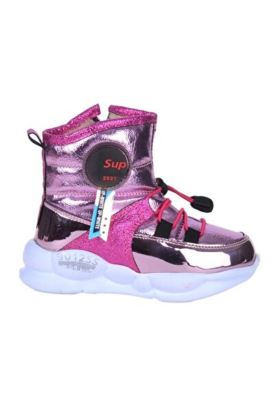7580 Kız Çocuk Fuşya Termal Kürklü Kışlık Bot Ayakkabı