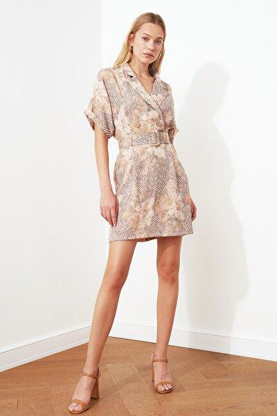 Çok Renkli Kemerli Elbise TWOSS20EL0425