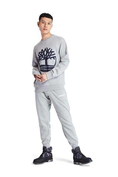Yc Core Tree Logo Crew Neck Erkek Sweatshirt Gri