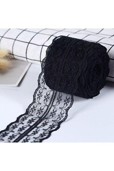 Siyah Dantel Kurdele (6cm-10m)