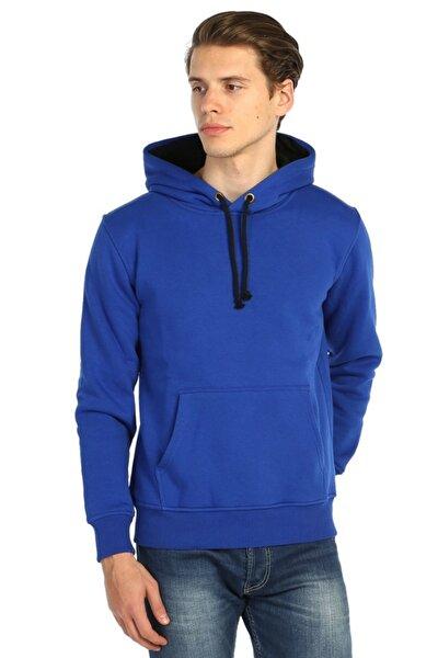Erkek Mavi Koyu Renk Içi Yünlü Sweatshirt