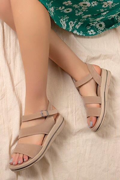 Kadın Kahverengi Günlük Sandalet