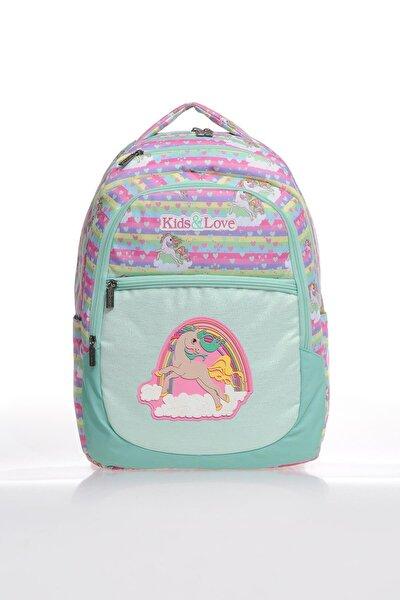 Kız Çocuk Turkuaz IL5022 Rainbow ilkokul Sırt Çantası