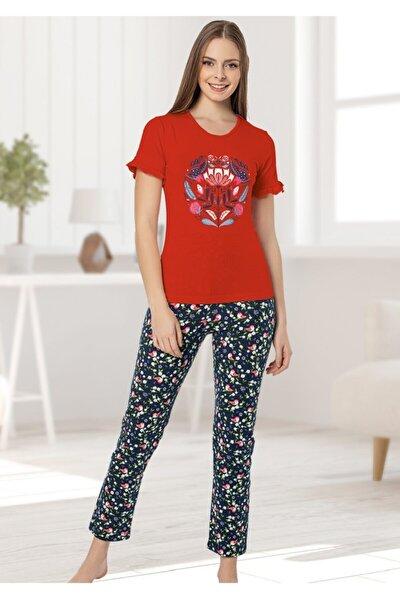 Kısa Kollu Yeni Sezon Bayan Pijama Takımı