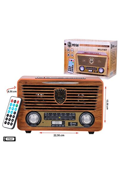 Radyo Nostalji Şarjlı Bluetooth Fm/usb/sd Mg-215bt