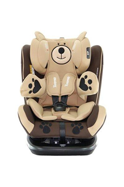 Kahverengi Bear 360 ° Dönebilir Yatabilir 0-36 Kg Oto Koltuğu Isofıx/sıp/latch
