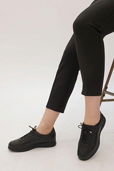 Kadın Siyah Hakiki Deri Comfort Ayakkabı Sensiva