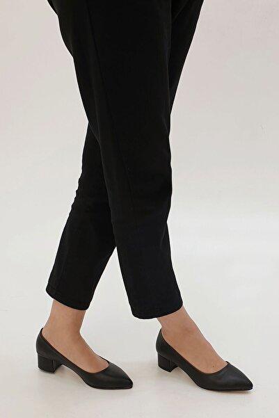 Kadın Günlük Klasik Topuklu Ayakkabı Apuntesiyah