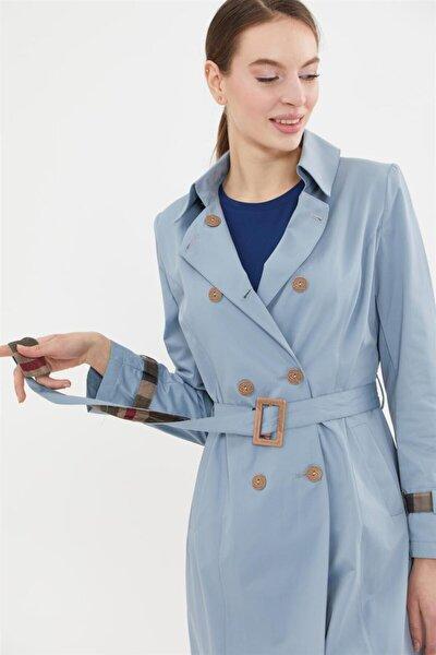 Kadın Trençkot-mavi 425-70