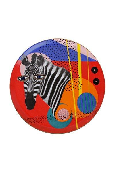 Wild Life Zebra Düz Tabak 28cm