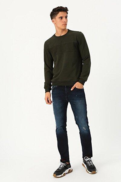 Erkek Haki Sweatshirt