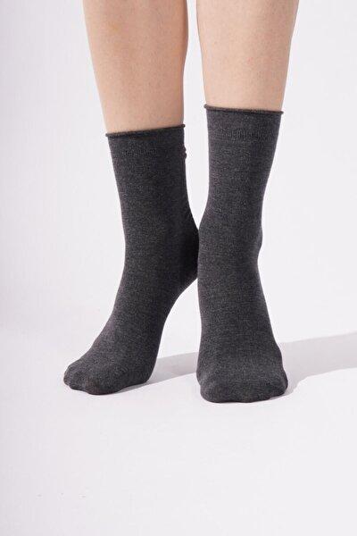 Harold Bamboo Lastiksiz Kadın Soket Çorap - Antrasit