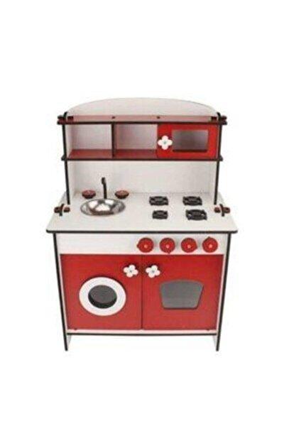 Kırmızı Küçük Mutfak Seti