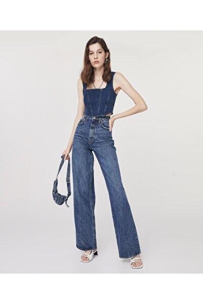 Super High Rise Wide Leg Jean Pantolon