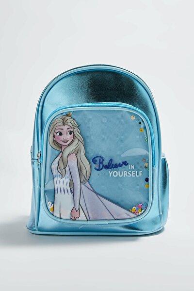 Frozen Kız Çocuk Mavi Rmq Sırt Çantası