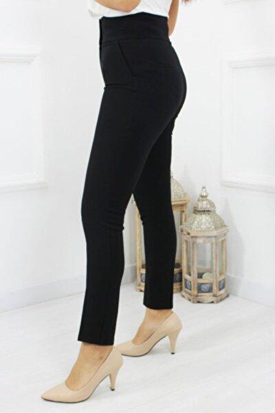 Kadın Siyah Yüksek Bel Pantolon