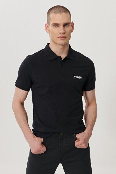 Erkek Siyah Regular Fit Polo Yaka T-Shirt