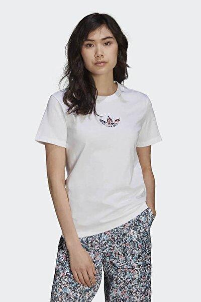 Kadın Beyaz Günlük T-shirt Gn3042
