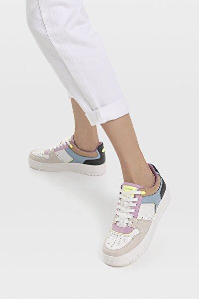 Kadın Çok Renkli Şeritli Spor Ayakkabı 19014770
