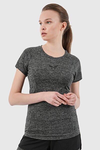 Kadın Gri Sporcu T-Shirt