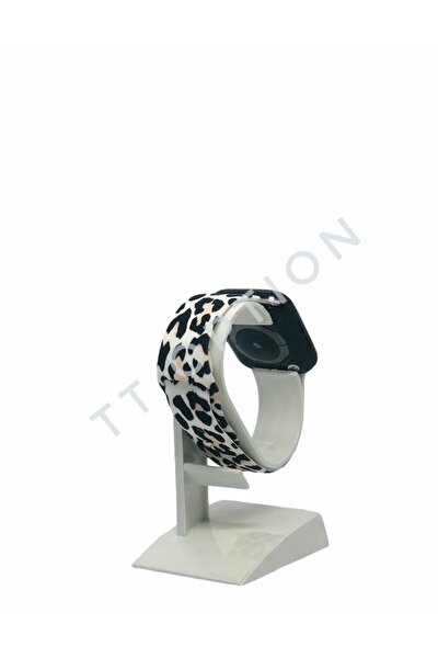 Apple Watch Uyumlu 38 / 40mm Leopar Baskılı Kordon