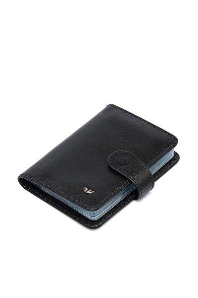 Hakiki Deri Siyah Unisex Kredi Kartlık S1KK00001210